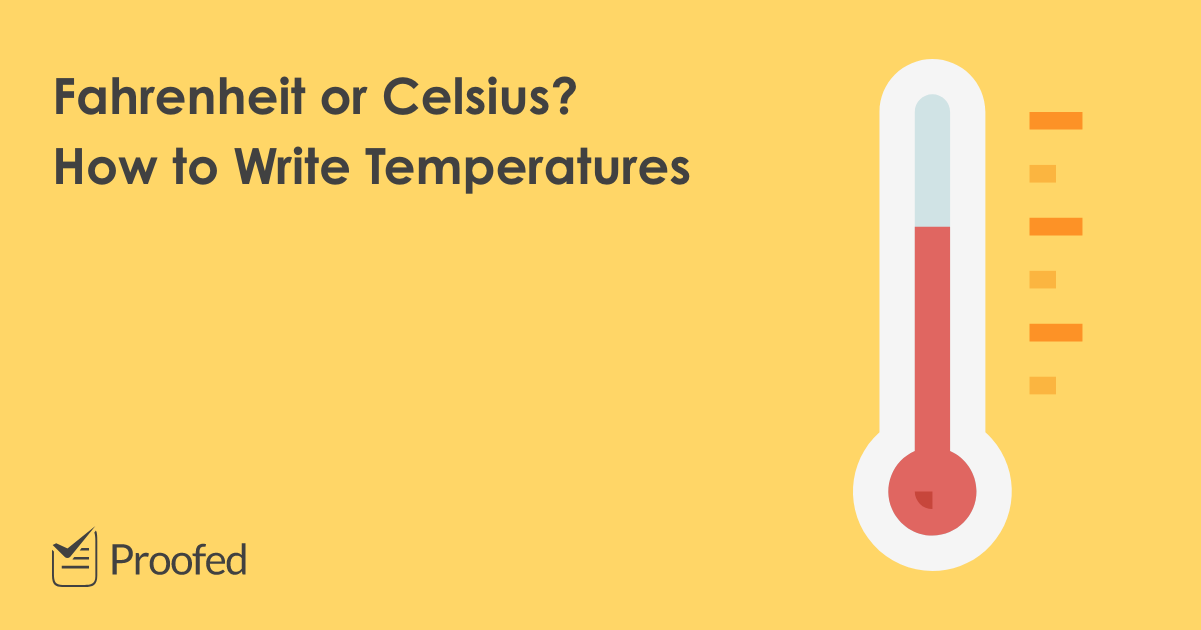 How to Write Temperatures in a Document