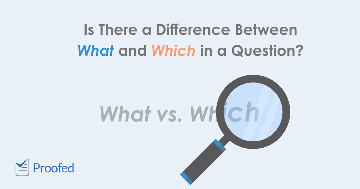 What vs. Which in Questions