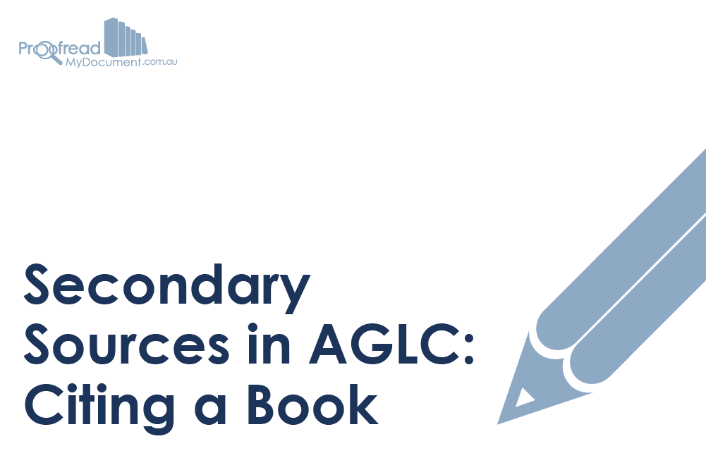 Secondary Sources in AGLC