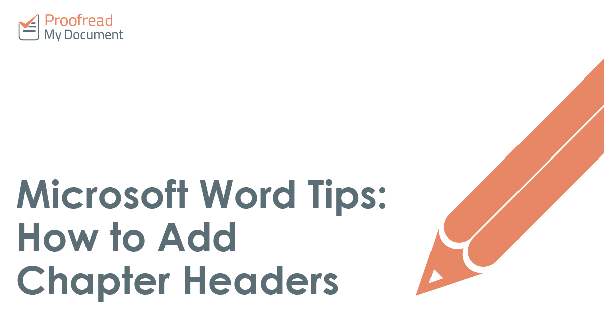Microsoft Word Tips - How to Add Chapter Headers