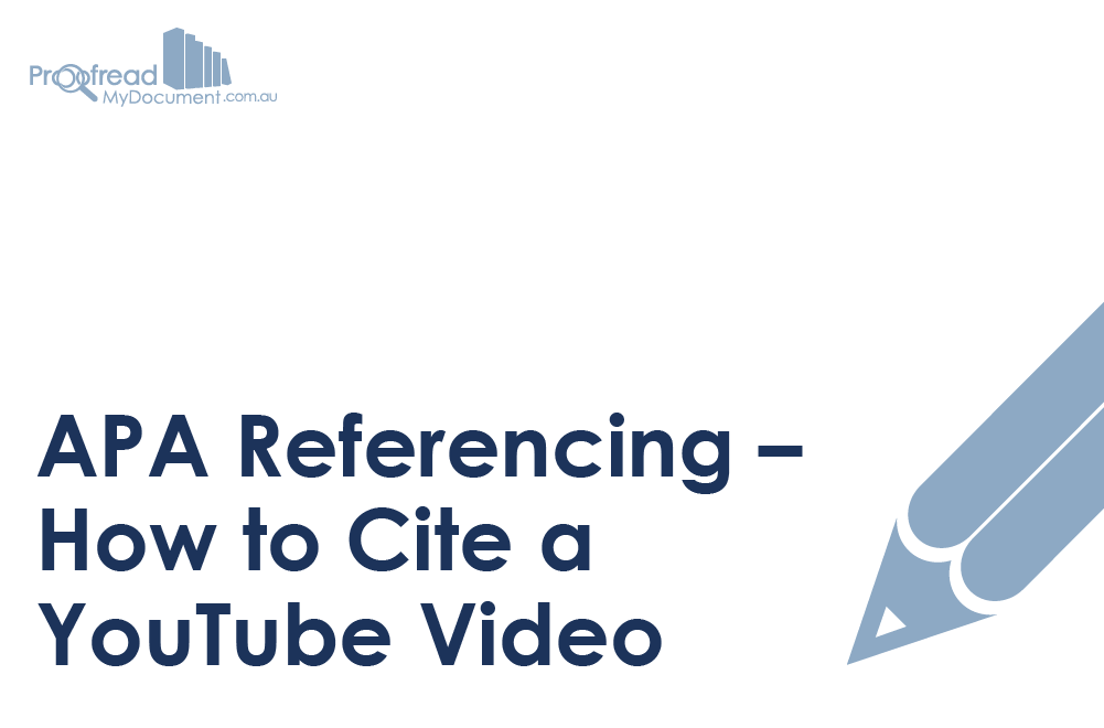 Apa Referencing How To Cite A Youtube Video