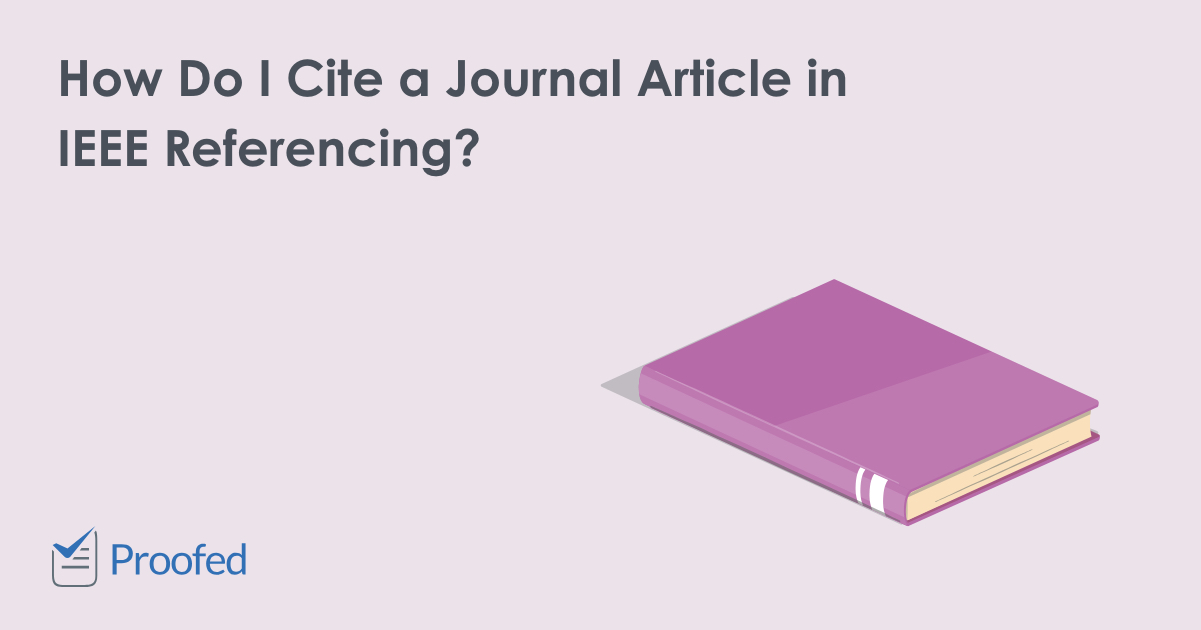 How to Cite a Journal Article in IEEE Referencing