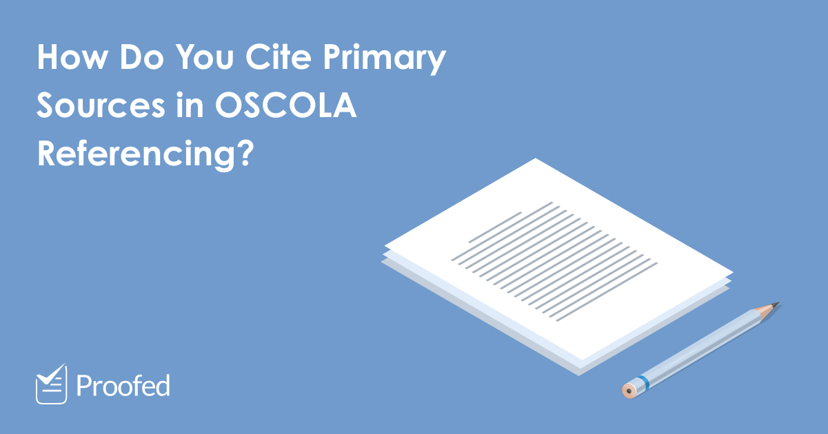 Citing Primary Sources in OSCOLA Referencing