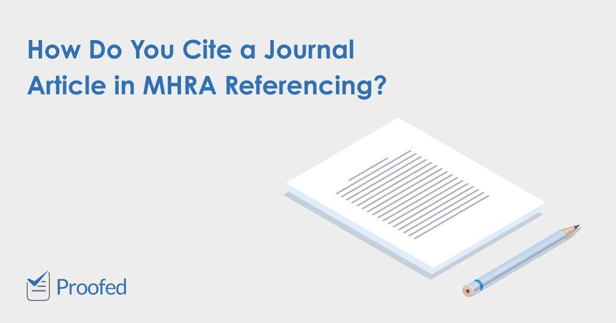 How to Cite a Journal Article in MHRA Referencing