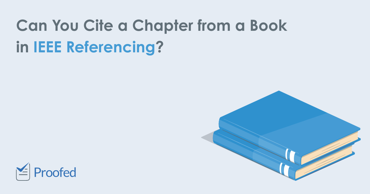 Citing a Chapter from an Edited Book in IEEE Referencing