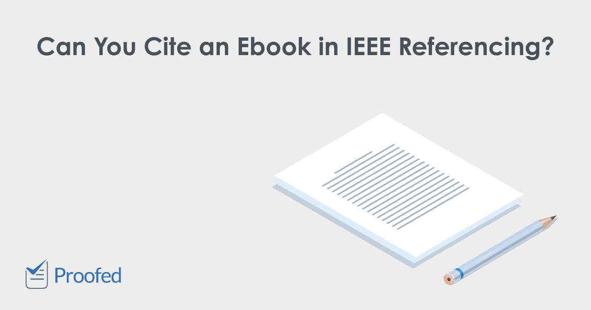 How to Cite an Ebook in IEEE Referencing