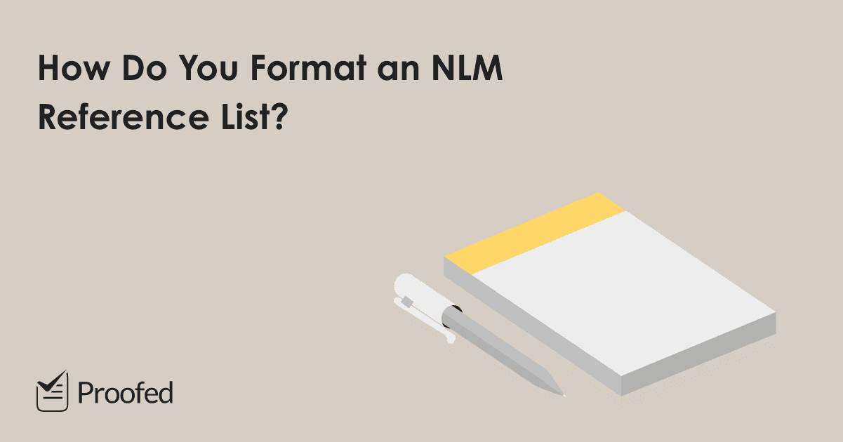 How to Format an NLM Reference List