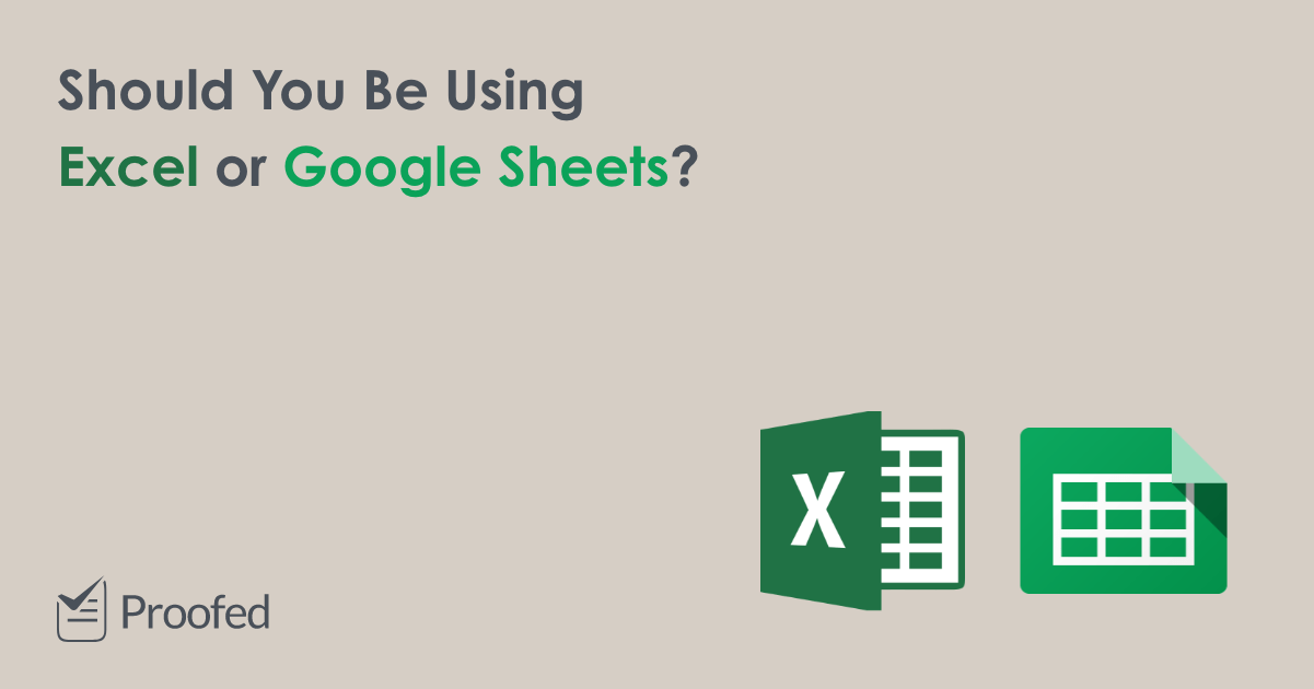 Microsoft Excel vs. Google Sheets Which Is Best?