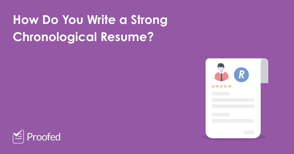 How to Write a Chronological CV or Resume-US