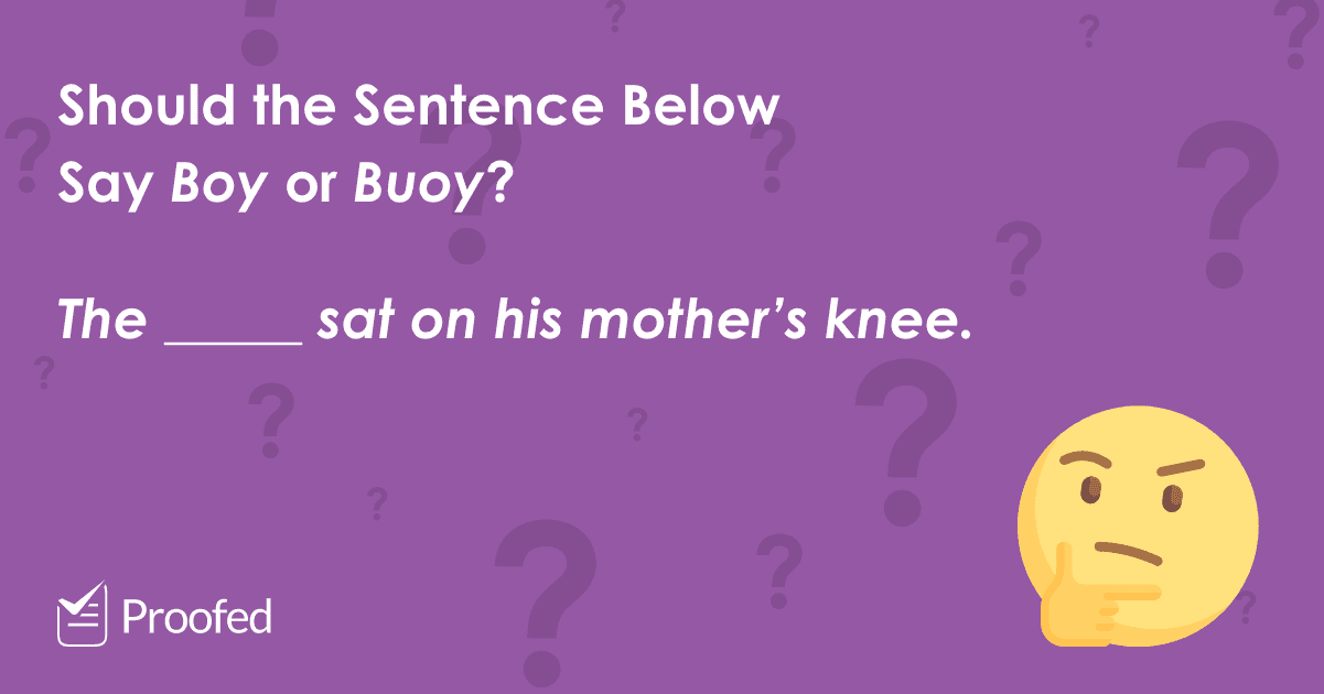 Word Choice Boy vs. Buoy