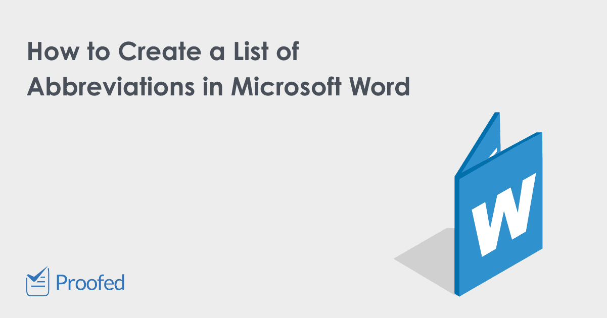 How to Create a List of Abbreviations in Microsoft Word