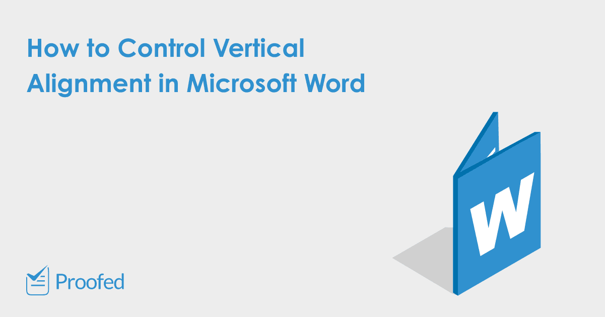 Microsoft Word Tips How to Control Vertical Alignment