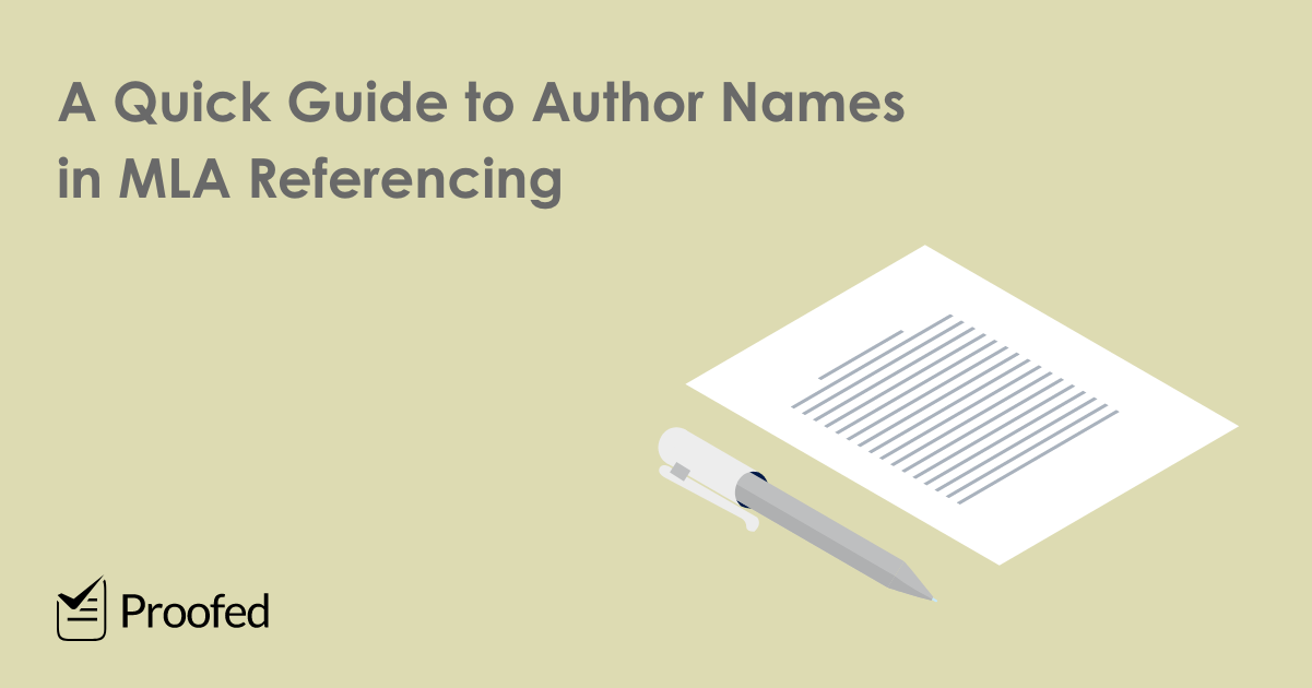 A Quick Guide to Author Names in MLA Referencing