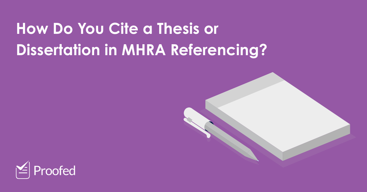 How to Cite a Thesis or Dissertation in MHRA Referencing