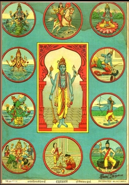 Vishnu and his avatars.