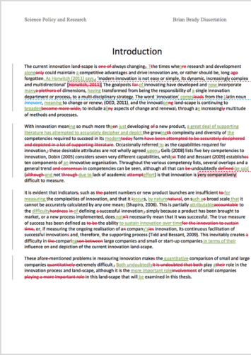 Dissertation Proofreading Example (After Editing)