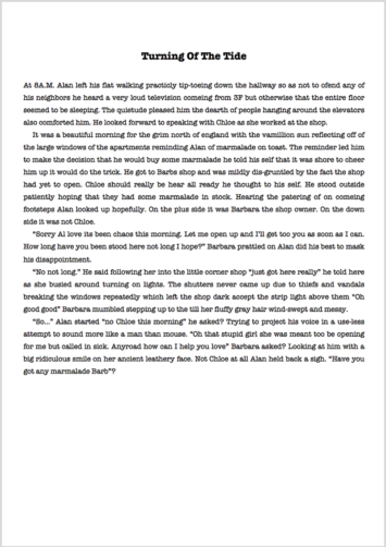 Admissions Essay Proofreading Example (Before Editing)