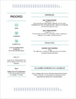 CV Formatting Example