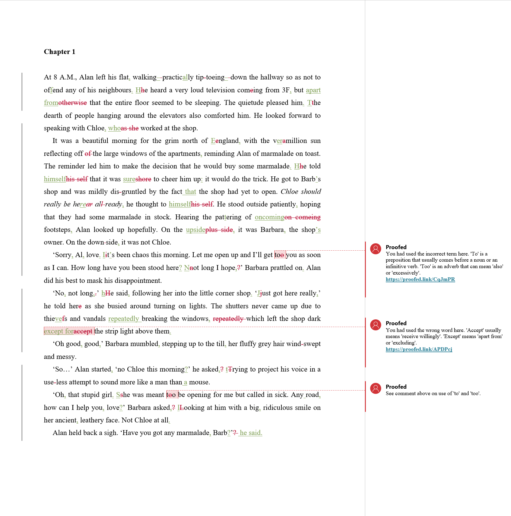 Manuscript Proofreading Example (After Editing)