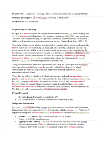 Research Proposal Proofreading Example UK AUS (After Editing)