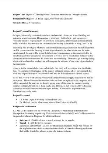 Research Proposal Proofreading Example (Before Editing)